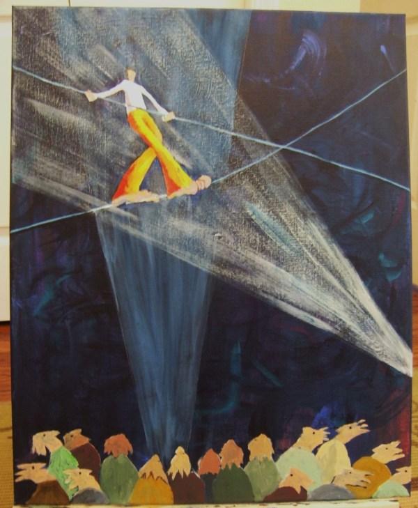 Tightrope Walker Painting