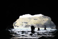Cave exploring, fun at low tide, not so fun at high tide.