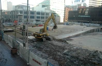 Fountain Square construction