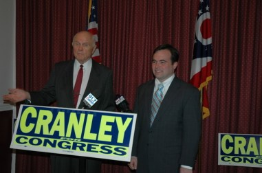 Sen. John Glenn and Cincinnati City Council Member and candidate for Ohio's 1st Congressional District, John Cranley