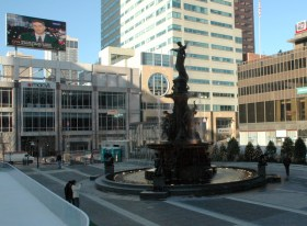 Fountain Square - winter - shortly after remodel