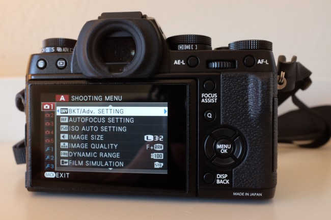 Fuji X-T1 ViewFinder and Menu