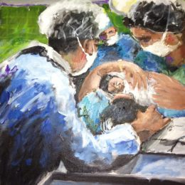 Delivery Room Joy of New Birth  -  click to view in detail
