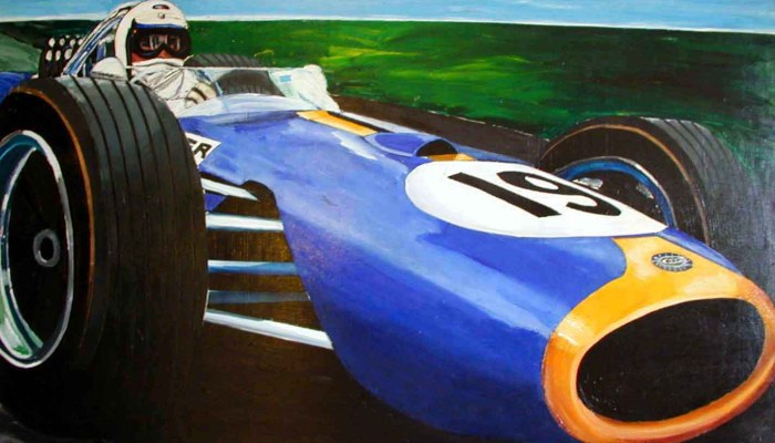 The Art of Race Cars and Race Car Drivers
