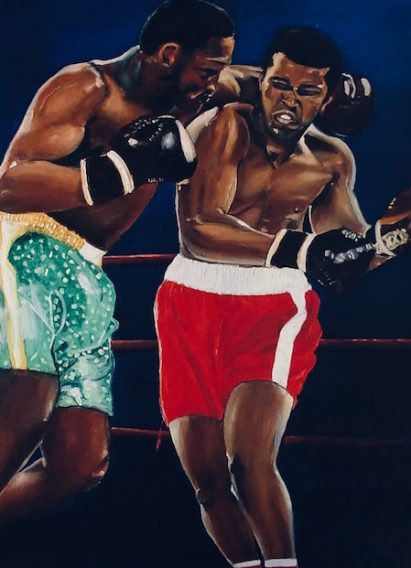 Boxers in Boxing Ring Painting Art