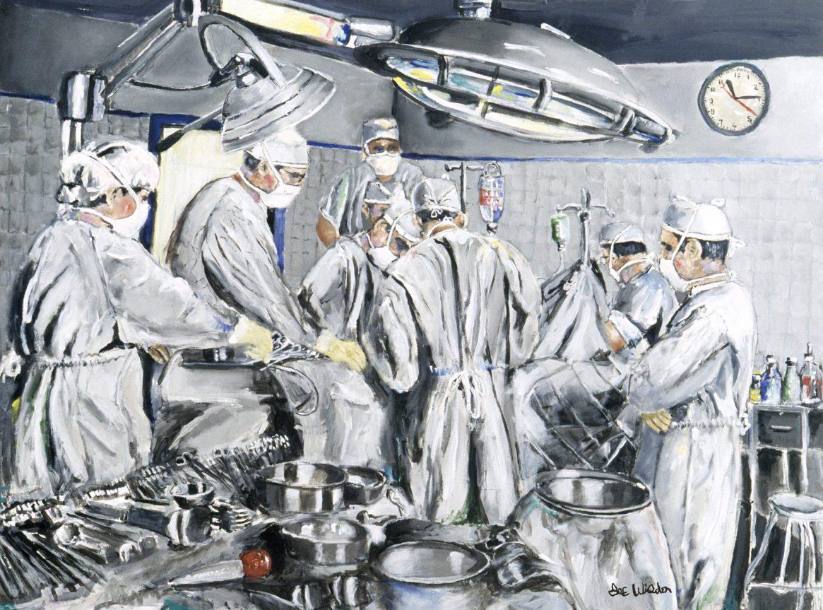 Surgeons As Heroes Performing Surgery