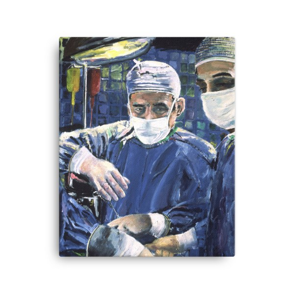 Magic Hands of Surgeon Canvas Print