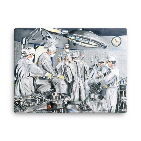 Surgeons as Heroes Performing Surgery in Operating Room