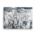 Wall Art Featuring Surgeons and Doctors Performing Surgery