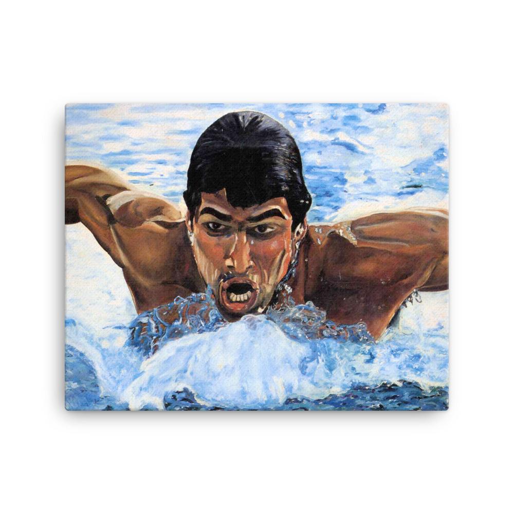 Olympic Swimmer Canvas Art Print