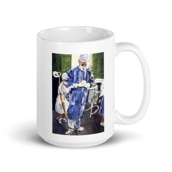 surgeon art gift coffee mug