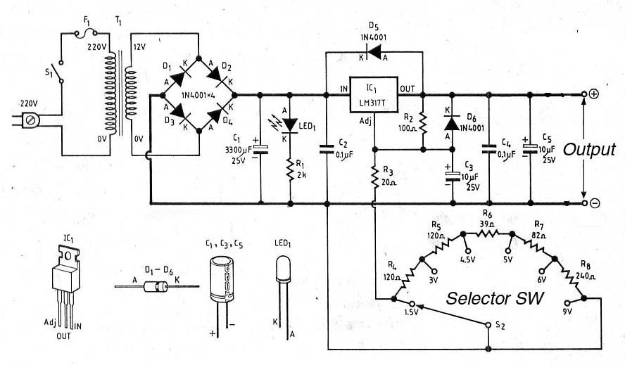 using lm7805 voltage regulator in the logic circuits