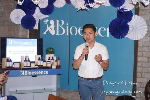 Bioessence VP for Marketing Joseph Feliciano
