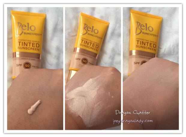 Belo SunExpert Tinted Sunscreen Swatches