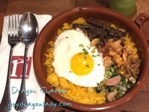 Cafe N (Enye) Paella Beef Tapa