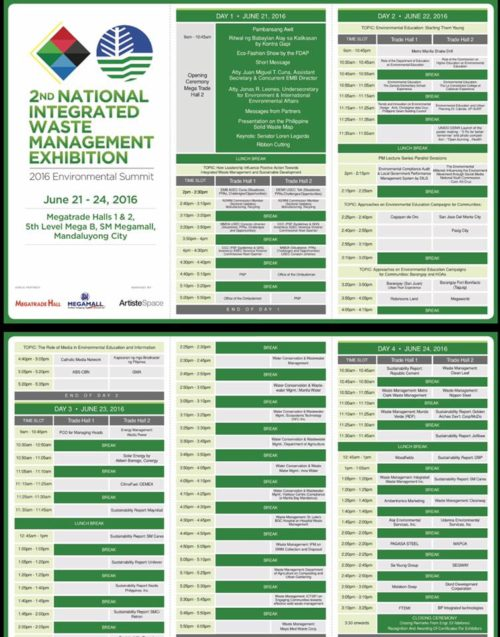 Environment Summit 2016 Schedule of Forum