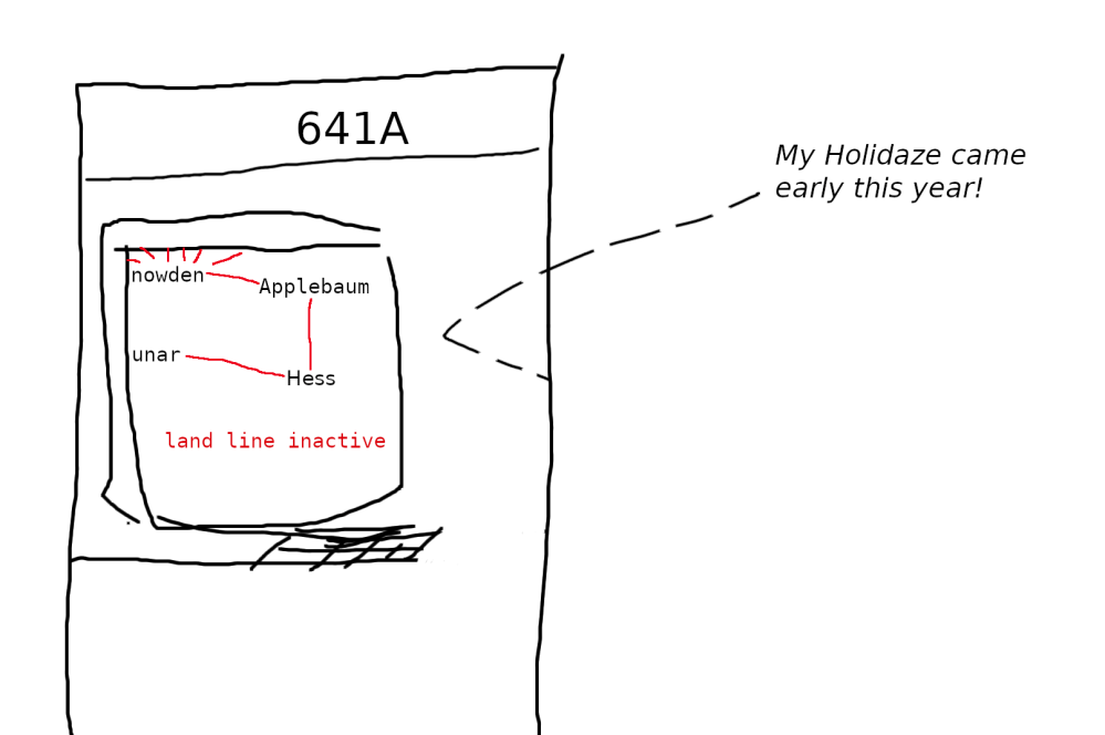 medium resolution of cartoon of room 641a red lines on a screen connect nowden applebaum
