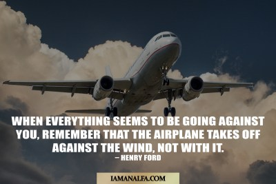 Plane take off Motivational Monday Quote