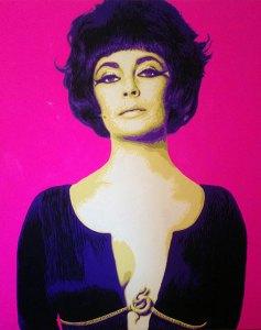 Pop Art, art, Joey Maas, Palm Springs Art, liz taylor, elizabeth taylor, hollywood, palm springs