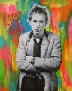 Pop Art, art, Joey Maas, Palm Springs Art, john lydon, rotten, sex pistols, punk, anarchist,