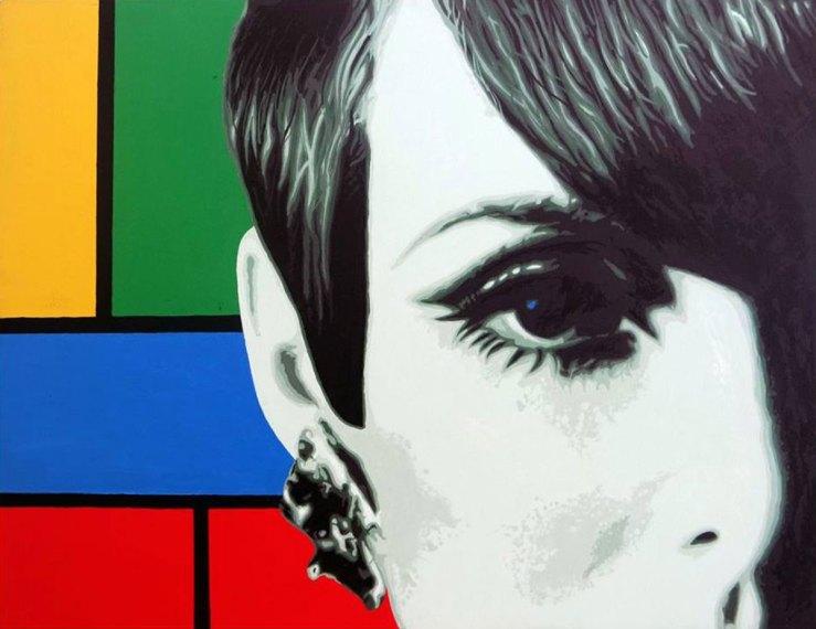 Pop Art, art, Joey Maas, Palm Springs Art, Supermodel, mondrian, 1960's