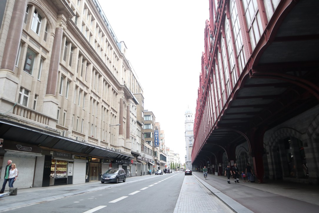 The diamond district next to the train station.