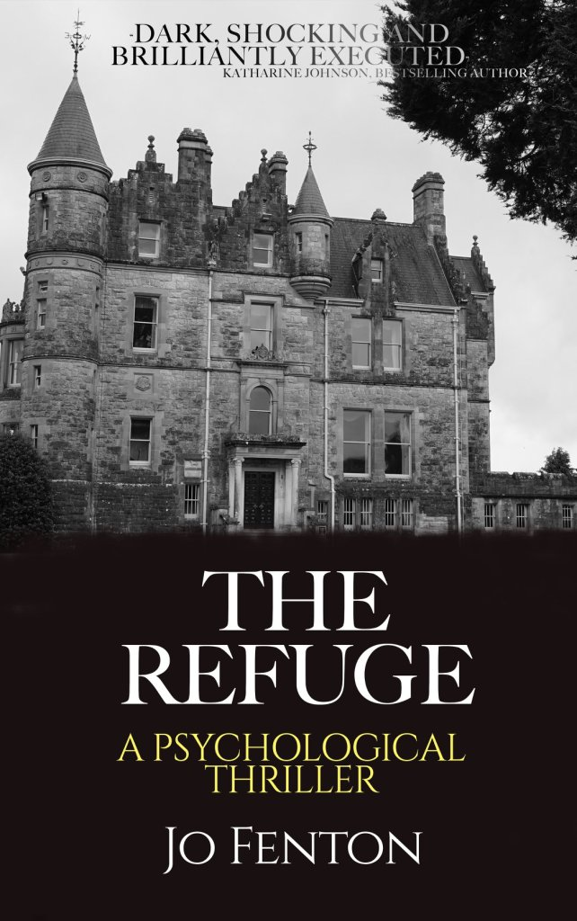 Cover picture of The Refuge with photo of the Abbey on the front cover.