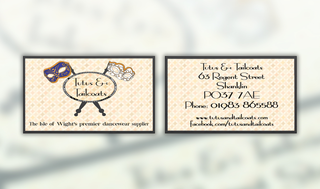 Tutus and Tailcoats Business Cards