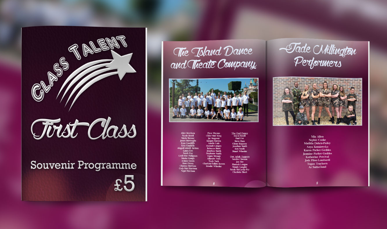 Class Talent 2016 Theatre Programme