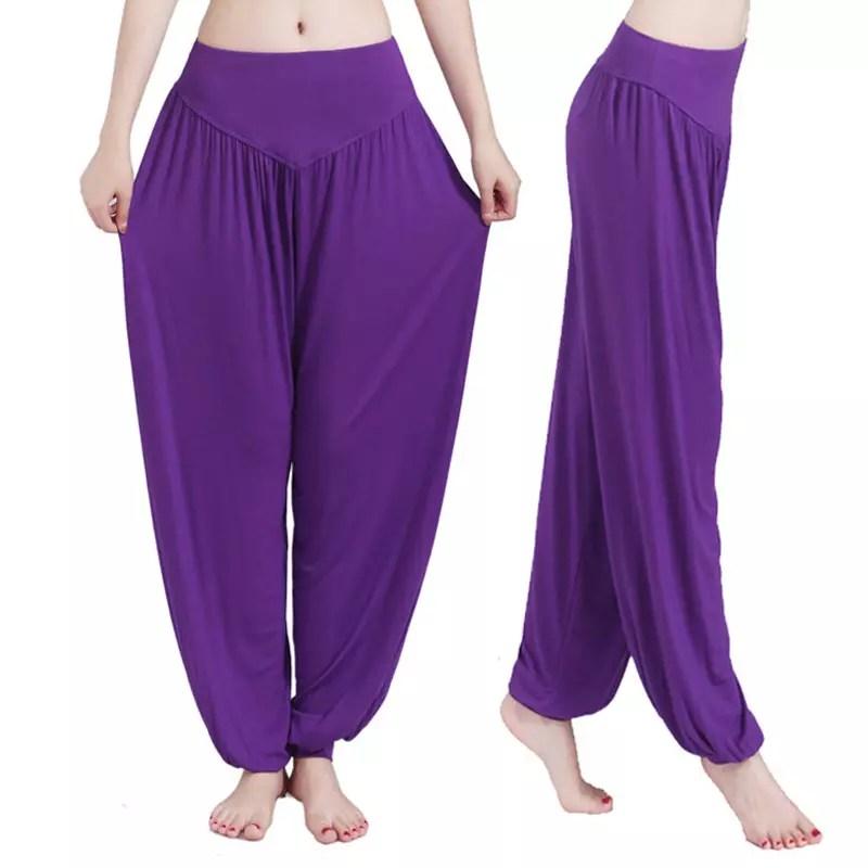 XXL Plus Size Sport Women Yoga Pants Colorful Harem Modal