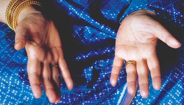 meditációs kéz