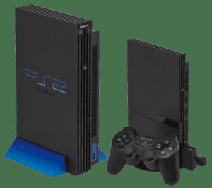 Imagem dos console playstation 2 Fat e PS2 Slim