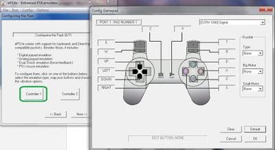 Configurando epsxe, joystick de PS1