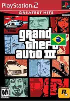 Capa Grand Theft Auto 3 PS2 PTBR