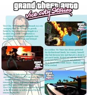 Imagem do jogo G T A: Vice City Stories