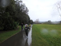 Approximately a mile is run on the walkway next to the Manawatu River.