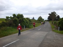 Compared to running, passing other participants in a walking event seems to take forever!