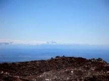Mt Taranaki, as seen from the crater.