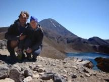 Upper Tama Lake with Mt Ngauruhoe in the back.