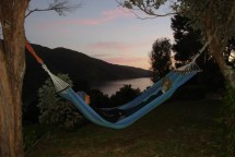 Watching the sun set over Madson's Camp. Bliss!