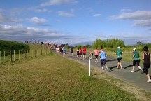 "One of two similar ""hills"" on the course - about 1.5m climb to get over the river bank."