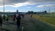 Cobham Drive where we encountered the first 10km returnies.