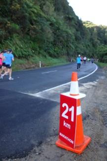 Finally we reached 21km, nearly halfway.