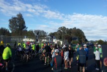 Race briefing. The cyclists in front of the runners. [Photo © Johann van der Merwe]