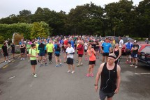 Shortly before the start of the 20.8km run.