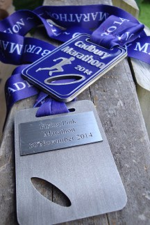 A great idea to use recycled medals from the Dunedin marathon. :-)