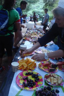 A fantastic spread at the aid stations, fit for a king.