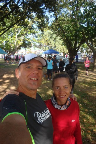 Us two at the start in the town square.
