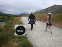 Lots of inspirational posters en route with this one near the top of the hill. :-) Next to the Kawarau River.