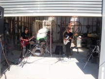 Some garage rock, literally.